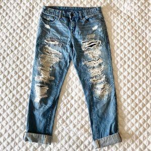 Blank NYC Distressed Boyfriend Jeans